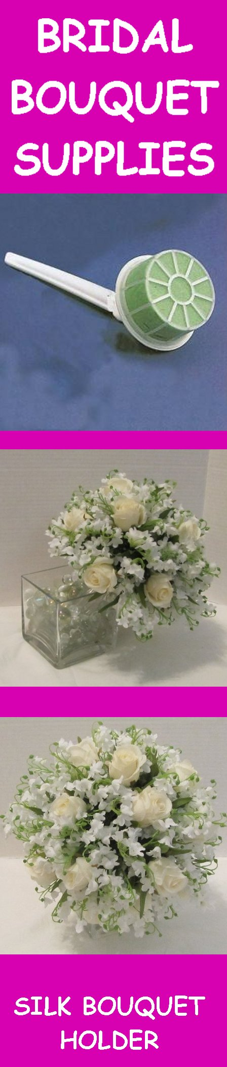 Bridal bouquet holders step by step free and easy wedding flower bridal bouquet holders izmirmasajfo