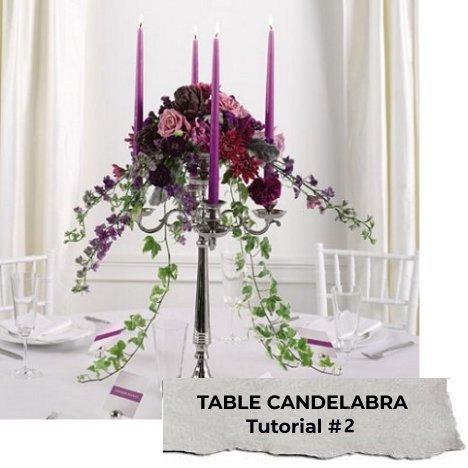 Candelabra Centerpieces Flower Tutorials Recipes Florist Supplies