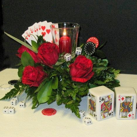 Casino Theme Centerpieces