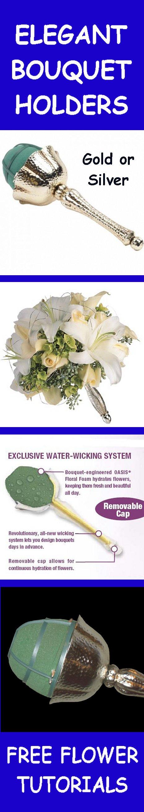 Elegant bridal bouquet holders easy step by step wedding flower free flower tutorials izmirmasajfo
