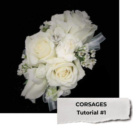 How To Make A Corsage Floral Adhesive