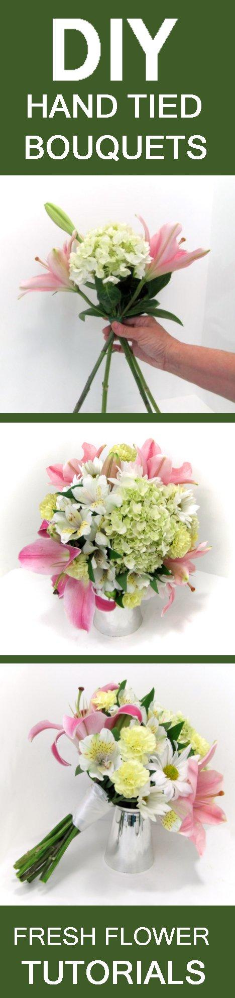 Hand tied bouquet free easy wedding bouquet tutorials free flower tutorials izmirmasajfo