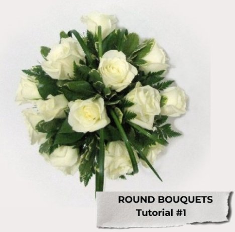 round wedding bouquet bouquet designs easy wedding flower tutorials 7144