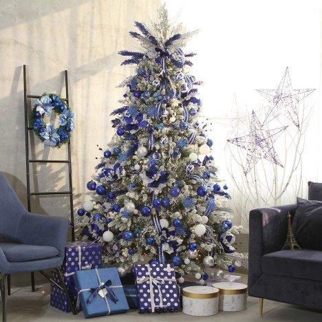 Royal Blue And White Christmas Tree Decorations from www.weddingflowersinc.com