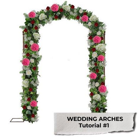 Wedding arches easy diy flower tutorials for weddings wedding arches junglespirit Gallery
