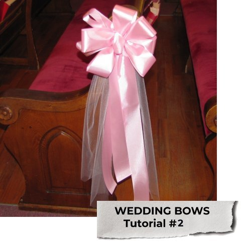 Wedding Pew Bows - Easy DIY Flower and Decorations