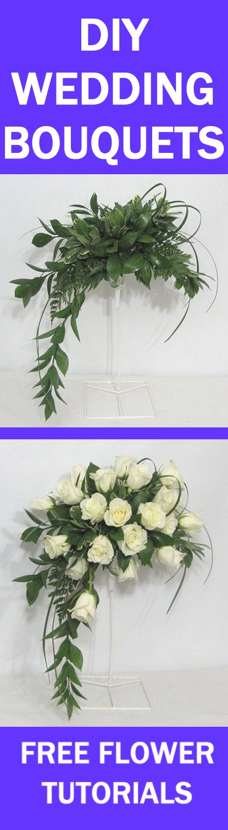 Wedding Flowers How To Keep Fresh : Fresh flower wedding bouquet easy diy tutorials